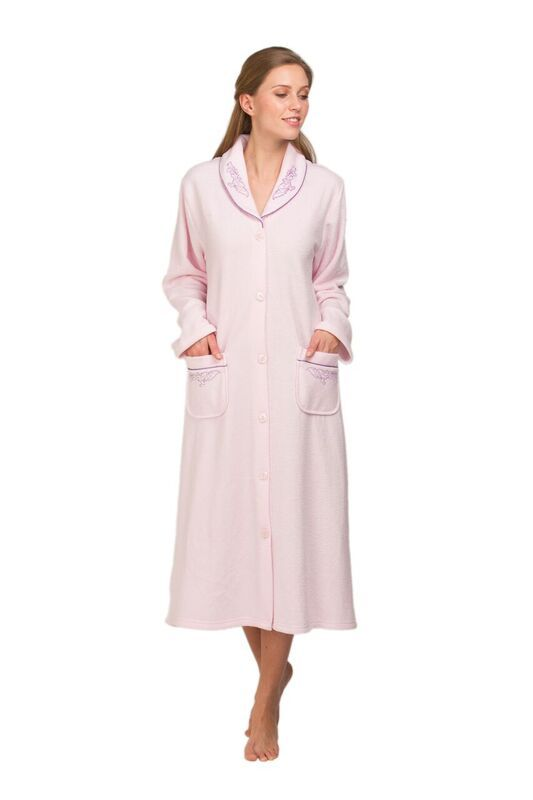Ladies Terry fleece Dressing Gown 67414 | Nightwear for the elderly ...