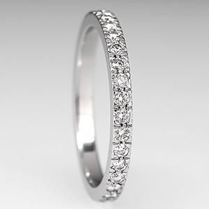 Elegant Emmy DE Tiffany u Co Novo Band Ring Wedding Eternity Diamonds Platinum