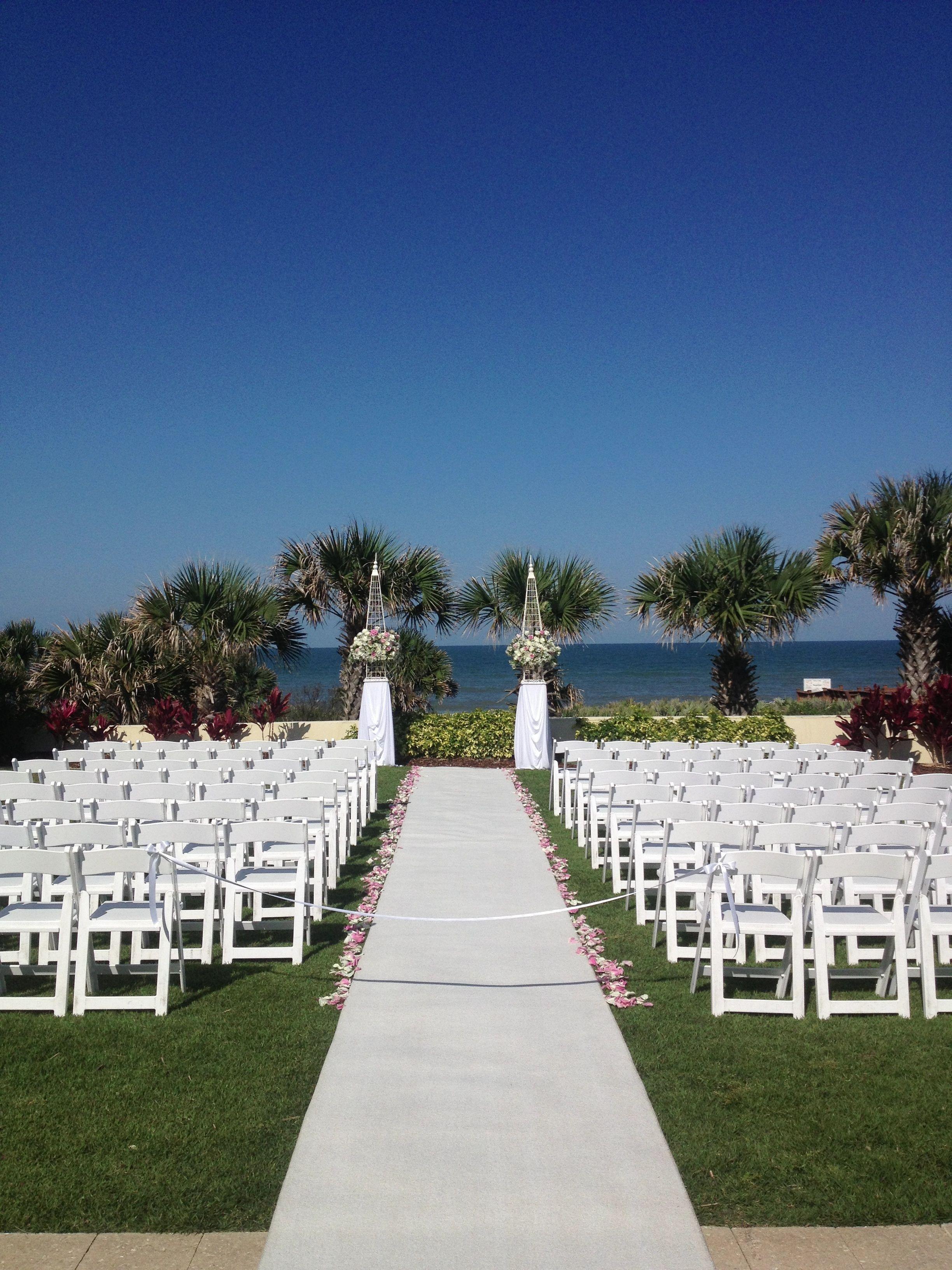 Wedding Ceremony On Lodge Event Lawn At Hammock Beach Resort