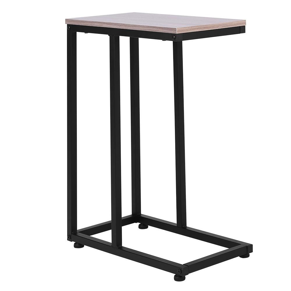 Zimtown Sofa Accent Table Eco Friendly Mdf 10 Wide Rectangle Industrial C Side Table Black Walmart Com In 2020 Black Side Table Side Table Accent Table