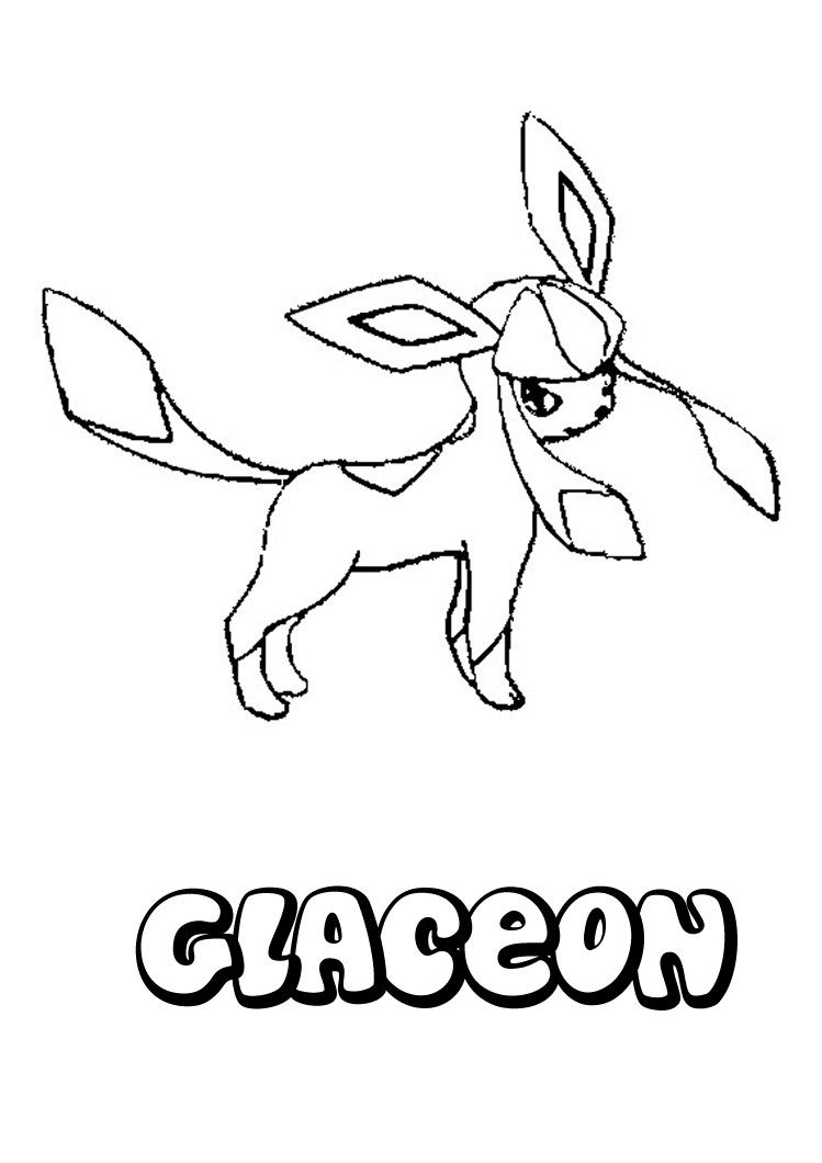 pokemon coloring pages glaceon coloring pages for kids sherry