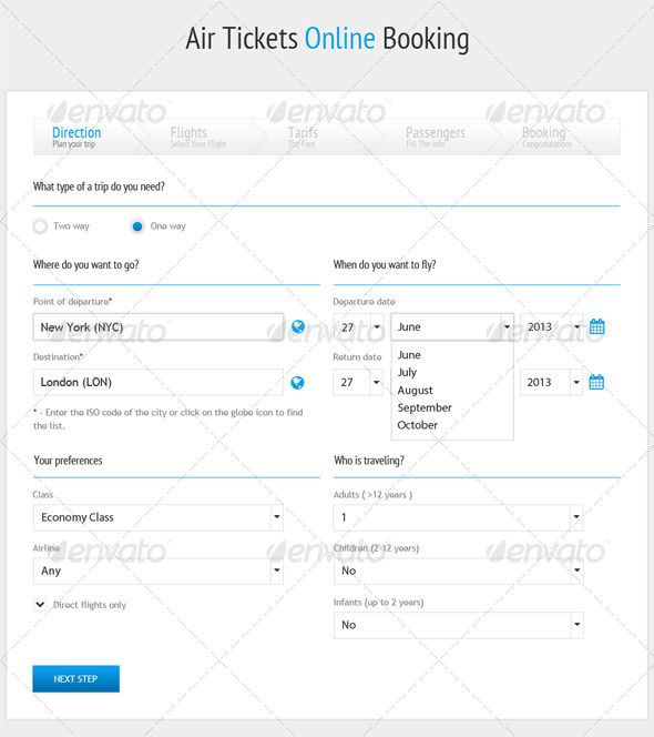 Air Tickets Online Booking Form Air tickets Template and Psd