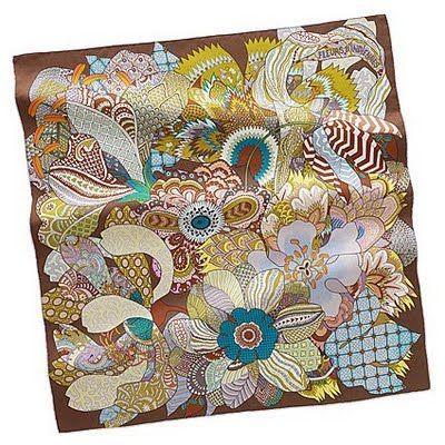 Hermes scarf print - Spring/Summer '11 collection - 'Fleurs d ...