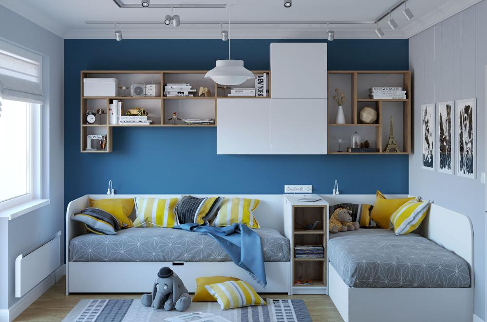 дизайн детской комнаты для двух мальчиков – Google Поиск в ...