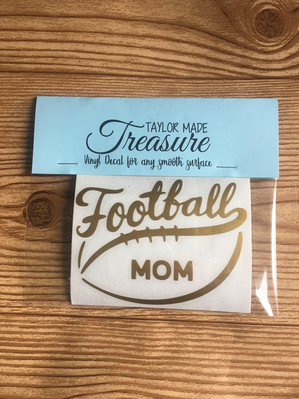 Football mom or dad vinyl decal sticker car decal football spirit gift idea gift for mom gift for dad team spirit school spirit by