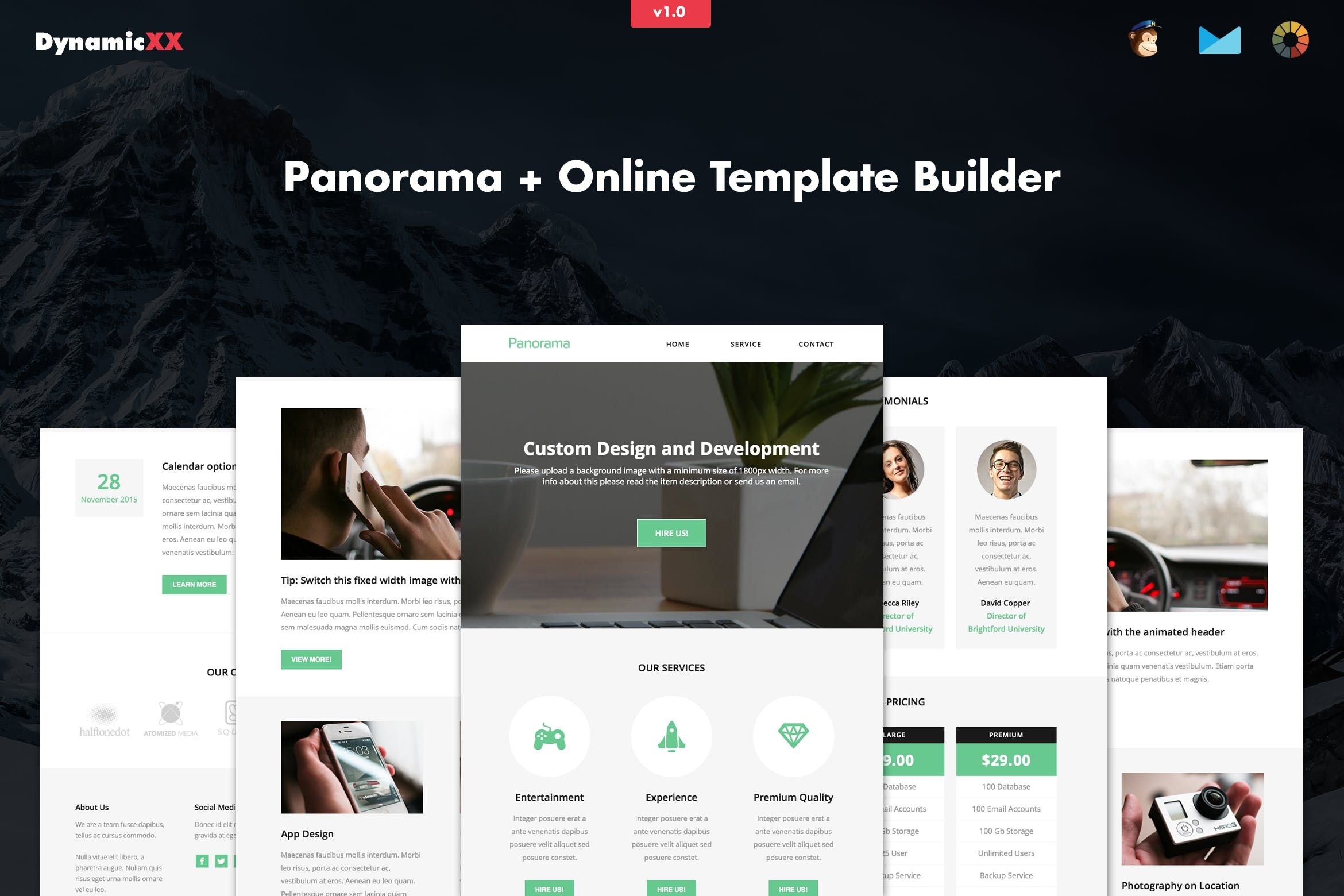 Panorama Responsive Business Email + Builder by