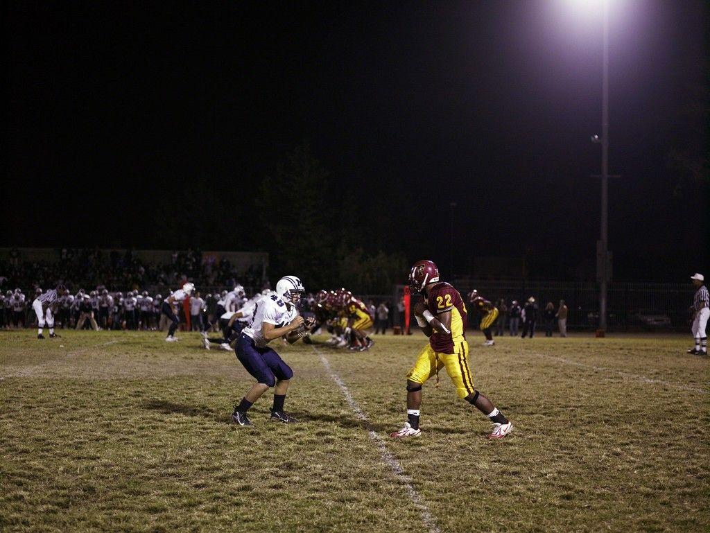 CATHERINE OPIE Football Landscape #1  (Fairfax vs. Marshall, Los Angeles, CA), 2007 C-print 48 × 64 in