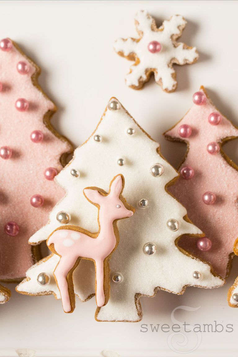 Photo of Pink Winter Wonderland Cookies – Collab with Haniela's! – SweetAmbs