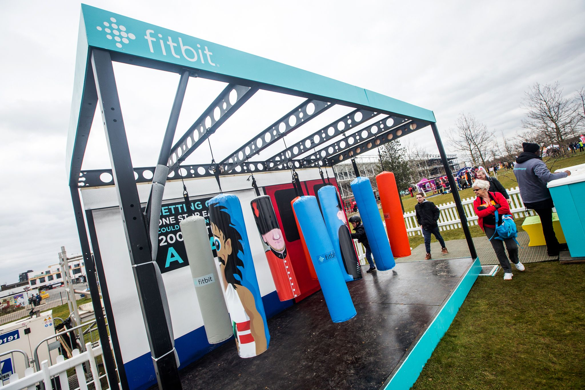 Activation designed and built by The Halo Group for our client Outside Collective on behalf of Fit Bit for Sports Relief. #Experiential #Marketing #CreativeStructure #BespokeStructure