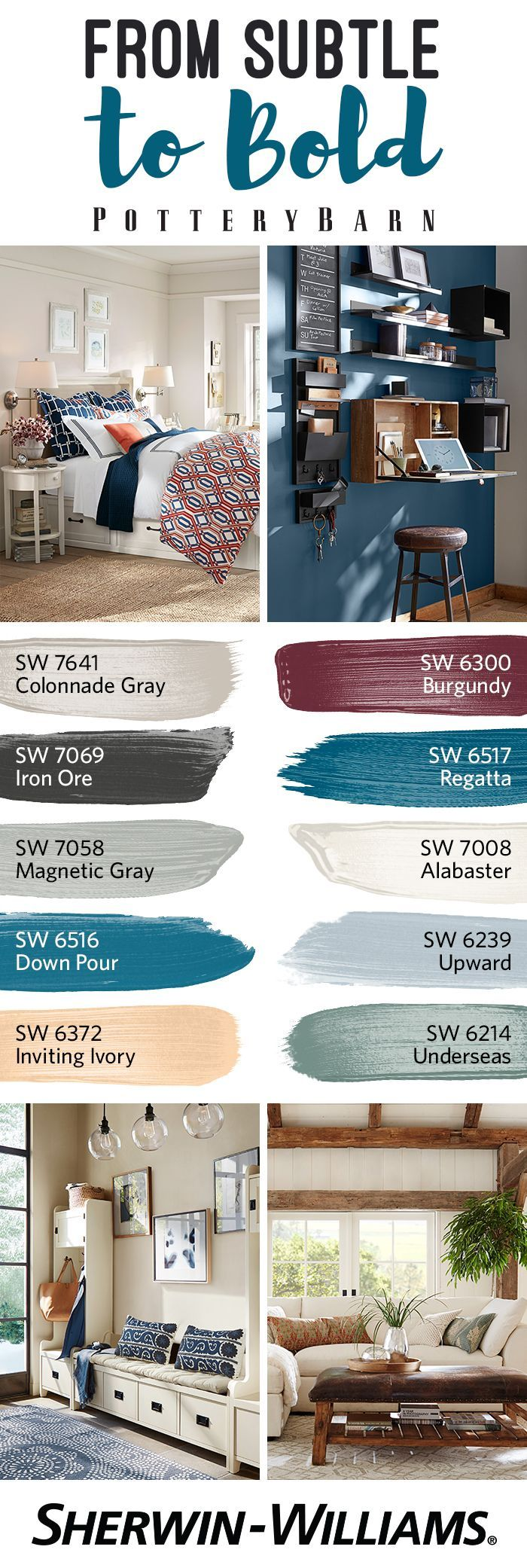 the fall winter 2016 palette from potterybarn is an exquisite