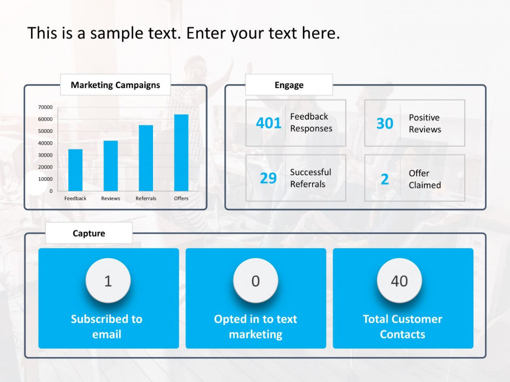 Marketing Campaign Analysis Dashboard In 2020 Powerpoint Templates Free Infographic Templates Marketing Campaigns