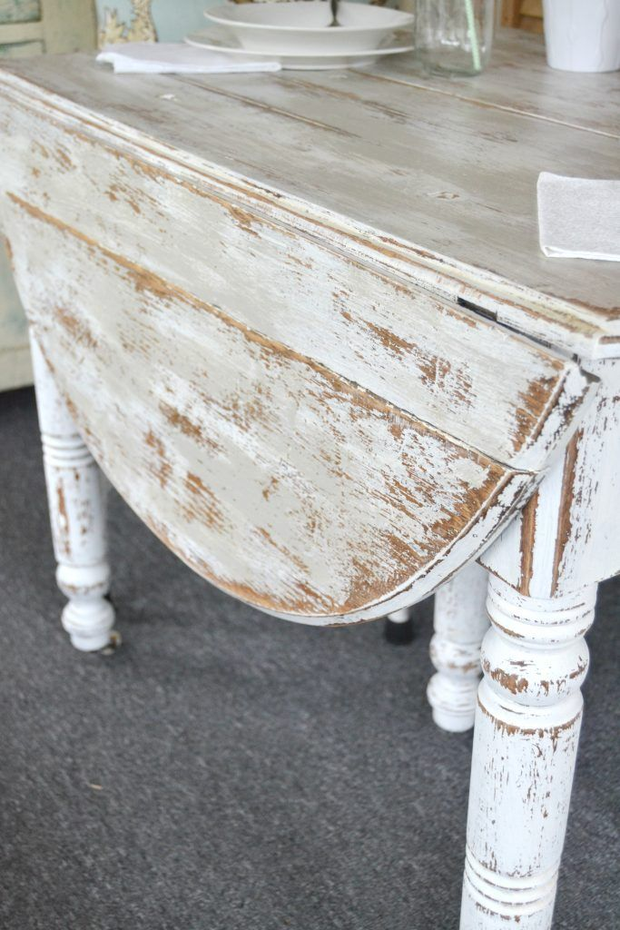 DIY Chippy Painted Table