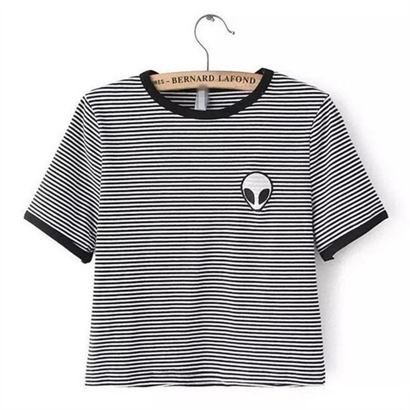 Cheap tee shirt, Buy Quality alien t-shirt directly from China t-shirt  women Suppliers: Fashion Summer Kawaii Design Print Aliens T-Shirts Women  Short ...