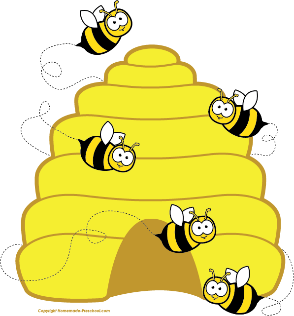 home free clipart bee clipart beehive bees bee themed classroom rh pinterest com clipart honey bee hive bumble bee hive clip art