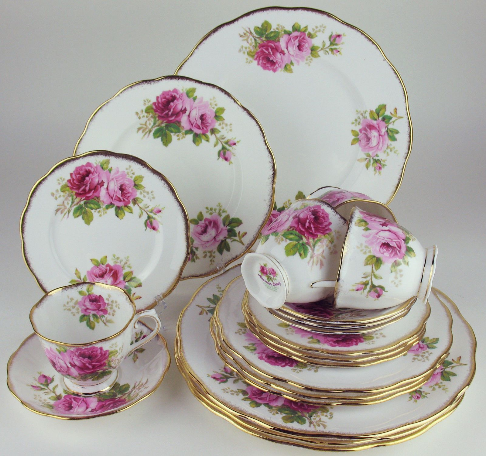 Royal Albert China u0026 Dinnerware | eBay & 20 Piece Set Royal Albert American Beauty 4 x 5 Piece Place Settings ...