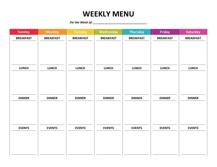 Complete Housekeeping Printable Set! Weekly menu planners, Menu