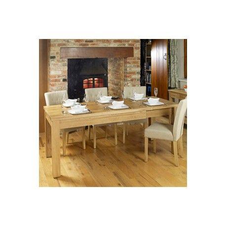 mobel oak dining table extendable table 4 to 8 seater made of solid oak wood