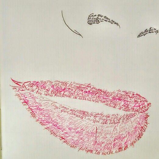 Corazon coraza benedetti, labios