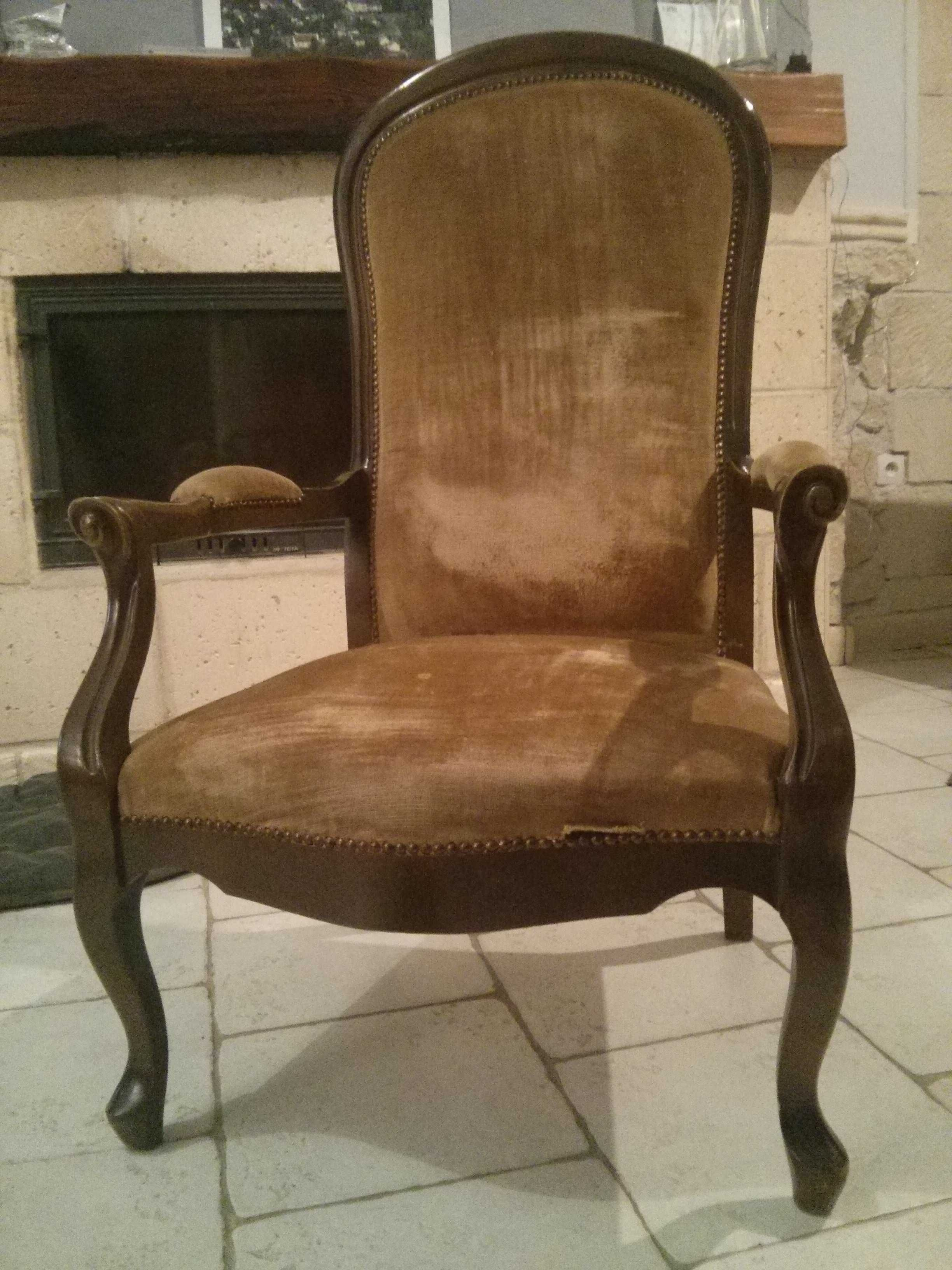 r novation d un vieux fauteuil voltaire en 2019 couture tricot bricolage fauteuil voltaire. Black Bedroom Furniture Sets. Home Design Ideas