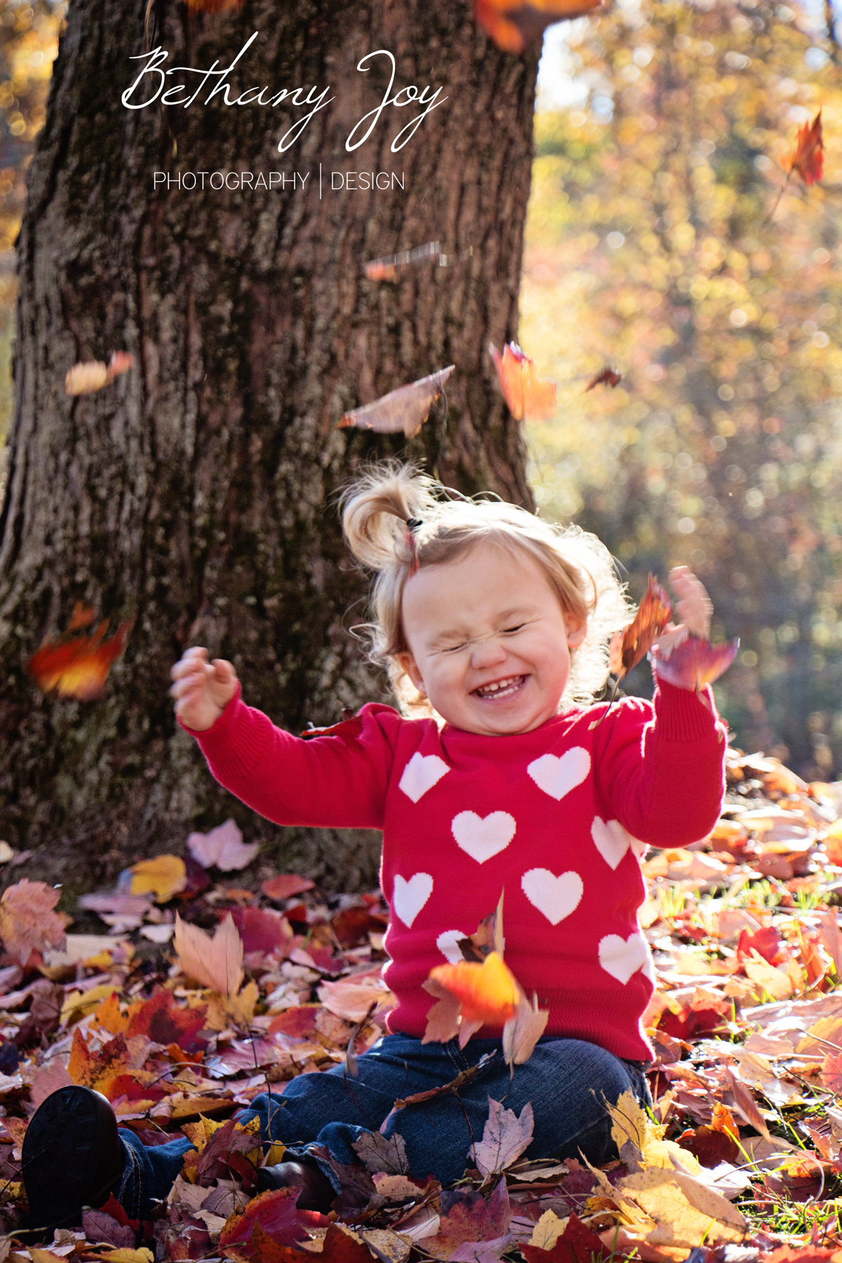 Fall Family Pictures - Little Girl - Fall Leaves - By Bethany Joy ...