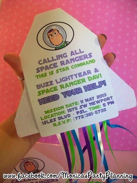 Buzz Invitacion Toy Story Party Toy Story Birthday Toy