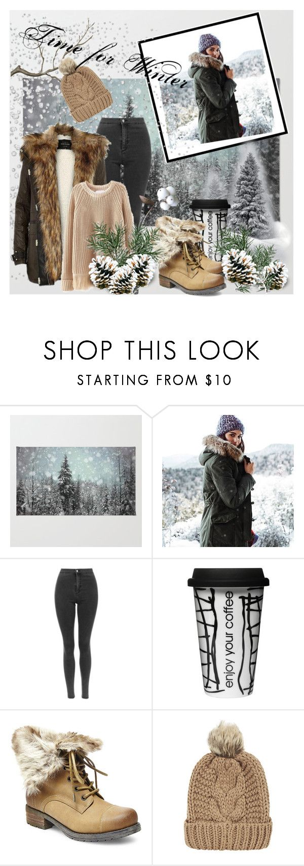 """""""Time for Winter"""" by ajmalina ❤ liked on Polyvore featuring American Eagle Outfitters, River Island, Dot & Bo, Steve Madden and Chicnova Fashion"""