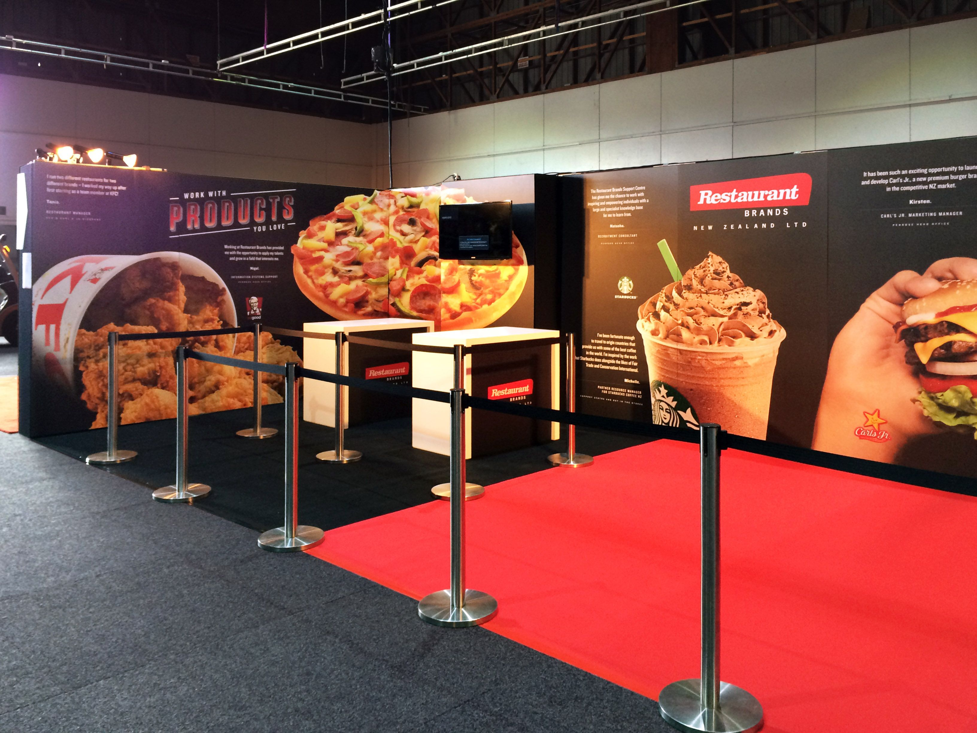 Expo Stands Nz : Restaurant brands exhibition stand at the careers expo