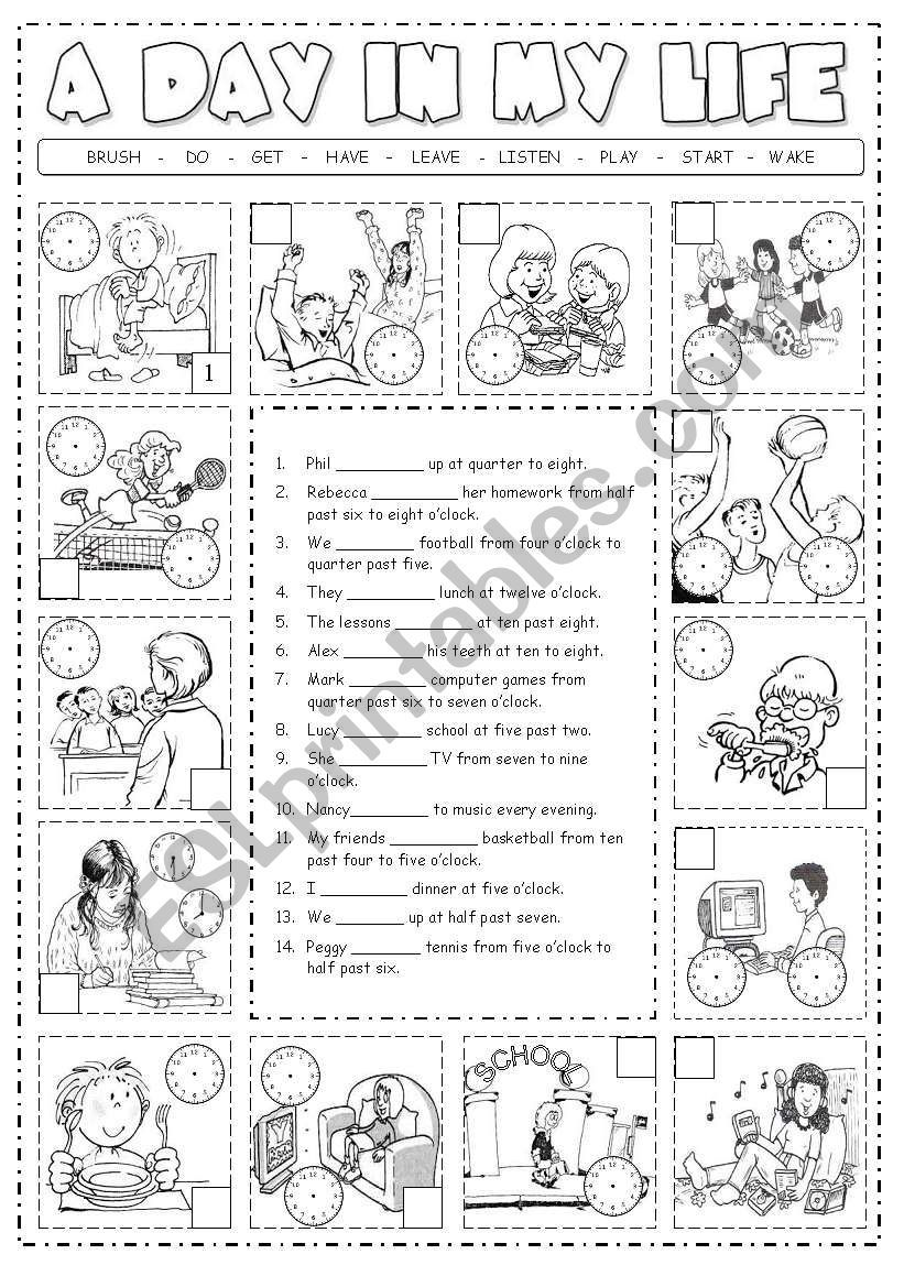 A worksheets to practice the present simple tense with
