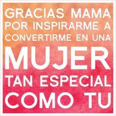 Gracias Madre Frases Regalo Día De La Madre Lámina Con Frase Gracias Mamá Por