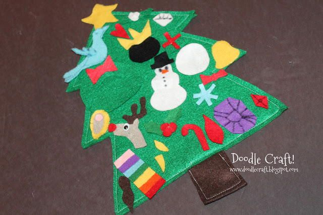 Felt Advent Tree Calendar Felting Beginner Sewing Projects And