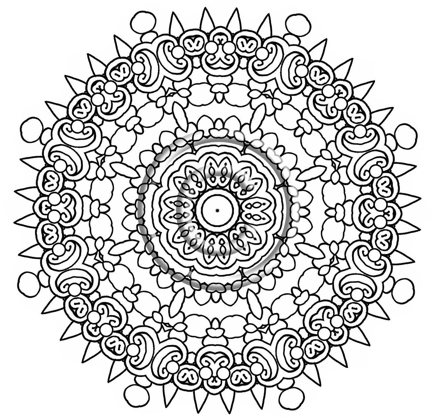 Intricate Mandala Coloring Pages - Bing Images | Coloring Pages ...