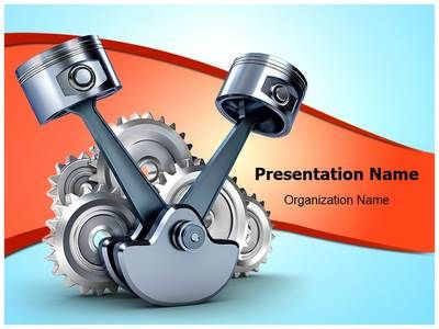 pistons and gears powerpoint template is one of the best, Presentation templates