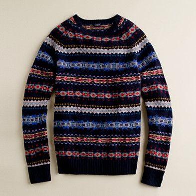 JCrew. Fine Lambswool Aberdeen Fair Isle Sweater for him ...
