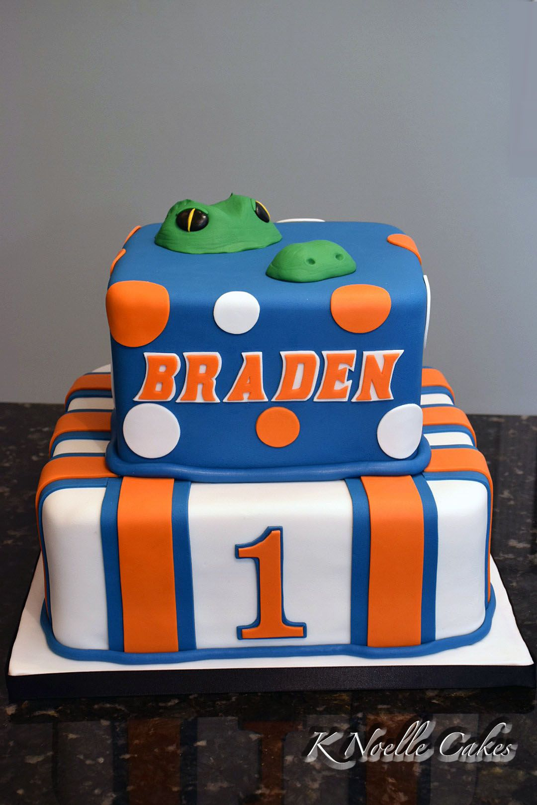 Gator Theme 1st Birthday Cake By K Noelle Cakes Cakes By K Noelle