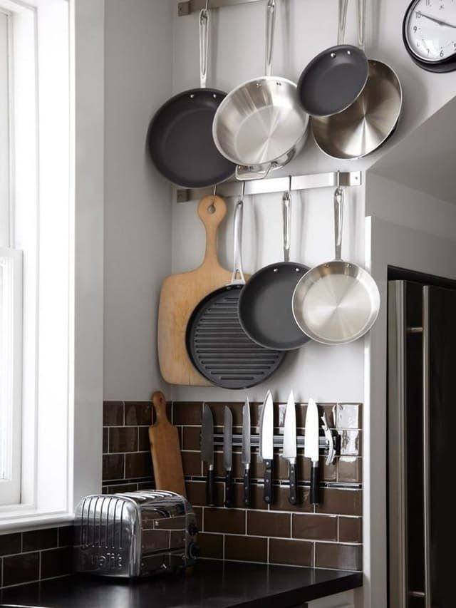 Ideas For Storing Pots Pans Pinterest Small Kitchen Solutions Pan Storage And