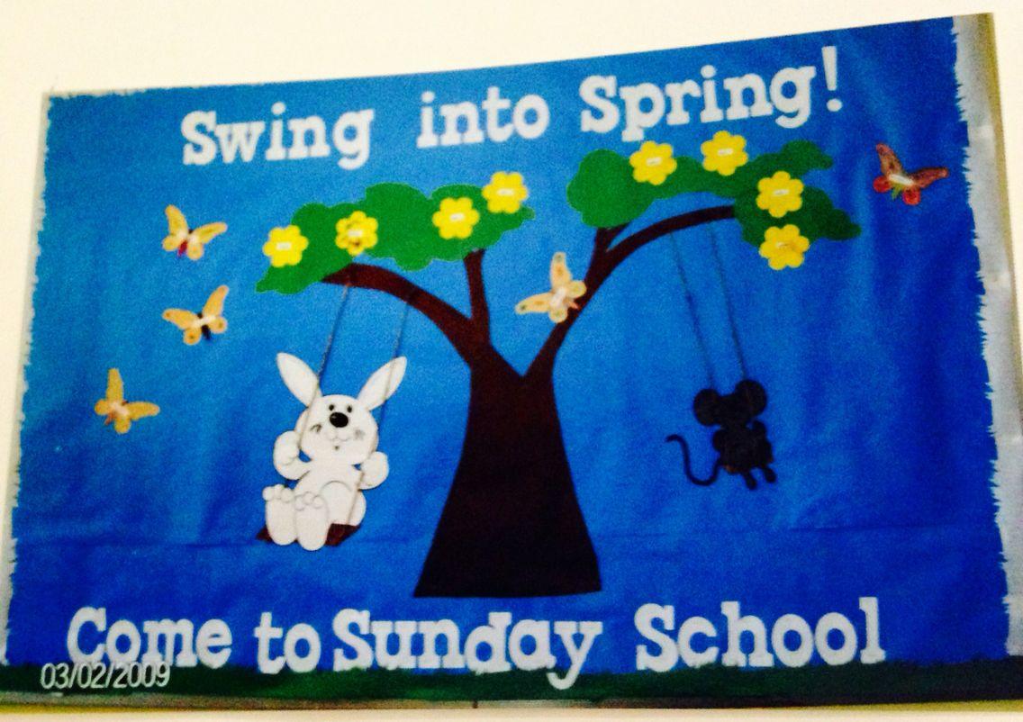 swing into spring bulletin board March 2009