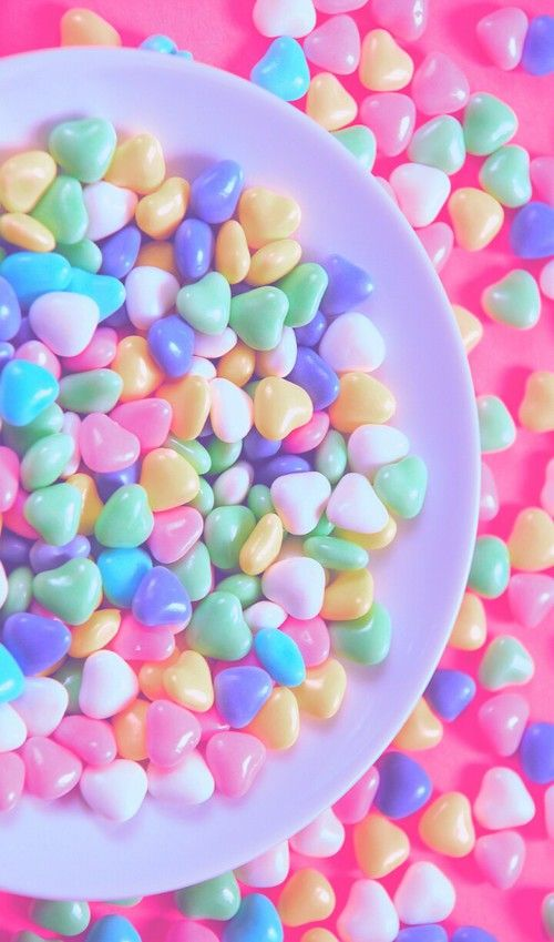 Art Background Beautiful Beauty Candies Candy Colorful Delicious Design Dessert Food Hearts Inspiration Iphone Colorful Candy Candy Cute Desserts