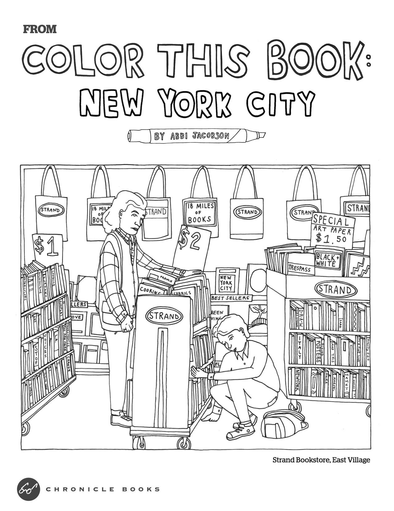 The Strand bookstore | Coloring Fun | Pinterest | Adult coloring and ...