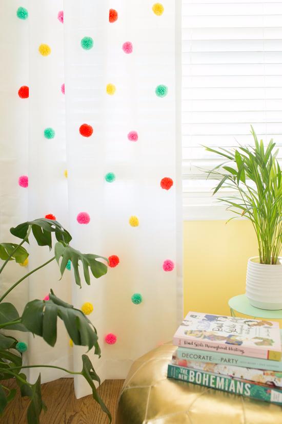 25 Stylish Diy Decor Ideas For Spring Pom Pom Curtains Diy