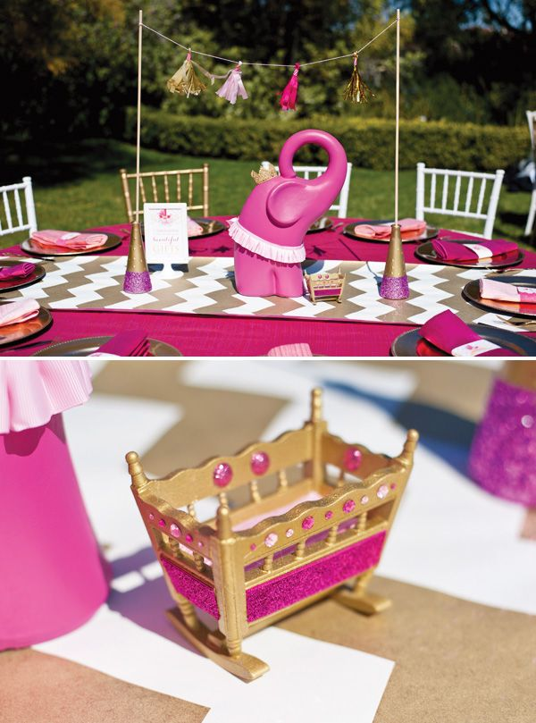{Pink, Glitter U0026 Gold} Royal Baby Shower: Recap Part 1 U2013 Theme U0026 Decorations