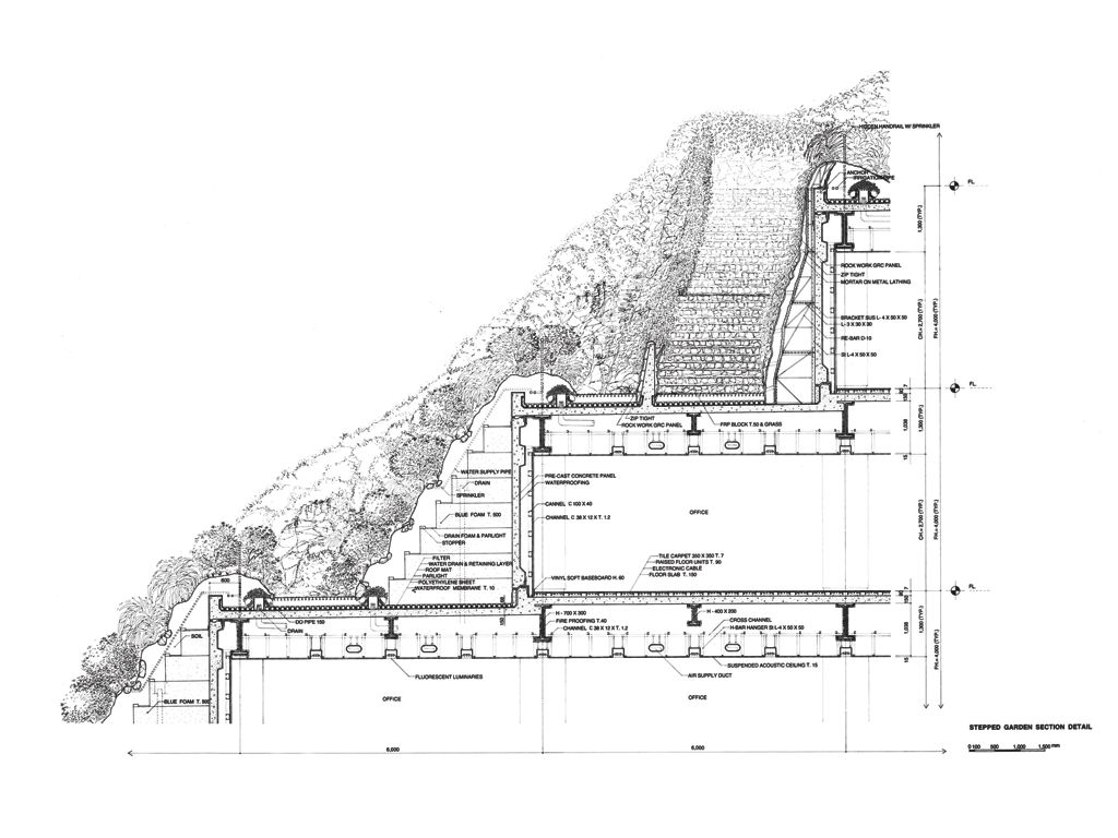 14 - Kamsai Onchanok Nawapruek - Construction - The drawing shows detail construction of vertical green roof.