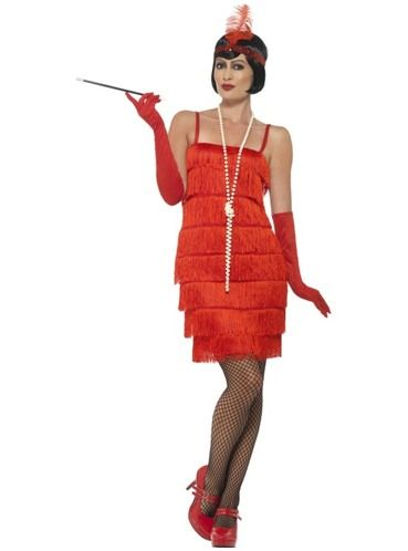 Fato de dama de vermelho dos anos 20 para mulher em 2019  db796522cd9