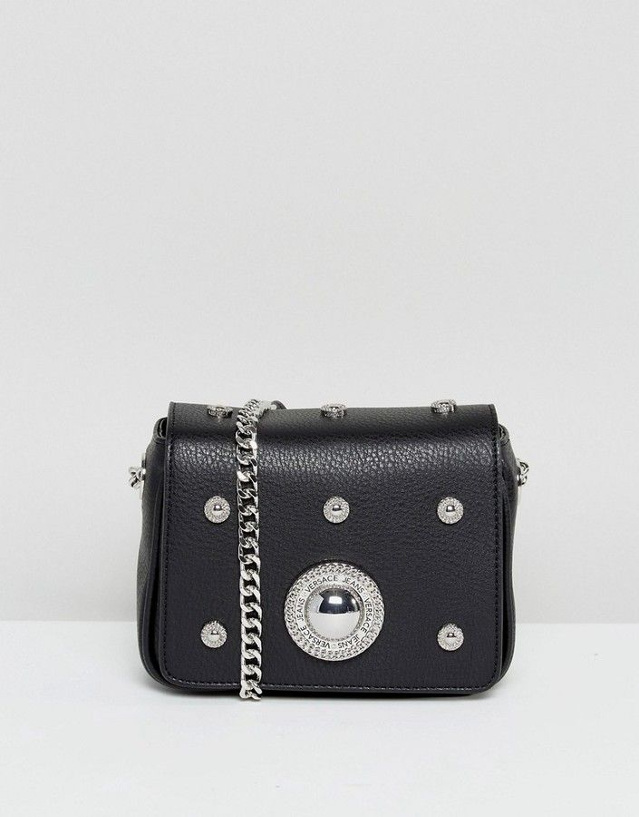 Versace Jeans All Over Circular Stud Crossbody Bag  http   shopstyle.it 67a8e95dd4906