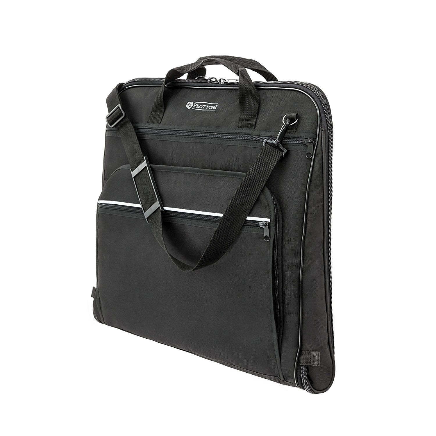 Prottoni 44' Premium Garment Bag - Built-in Hook - Shoulder Strap - Suit Bag with YKK ** Check out this great product.