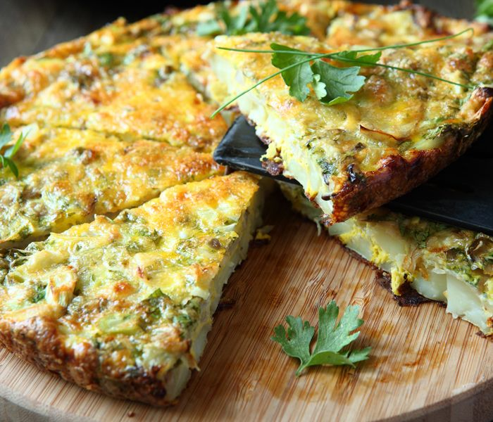 Breville® Halo+ Spinach and Goats Cheese Frittata