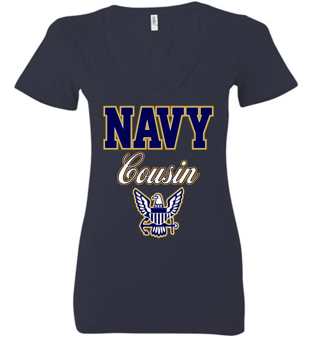 U.S. Navy Cousin Women's Deep V-Neck T-Shirt