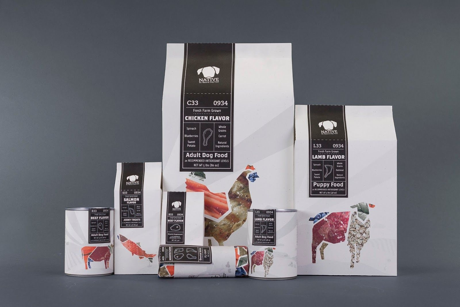 native pet food student project food packagingpackaging ideaspackaging designproject