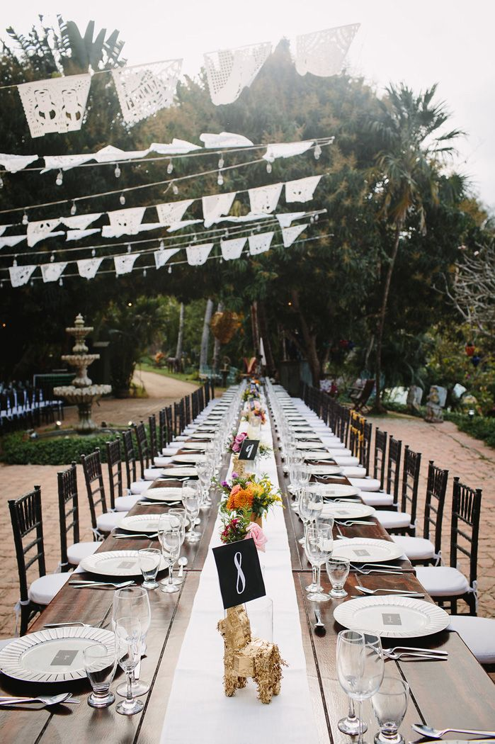 Long wedding tables - Wedding reception decoration | fabmood.com #weddingreception