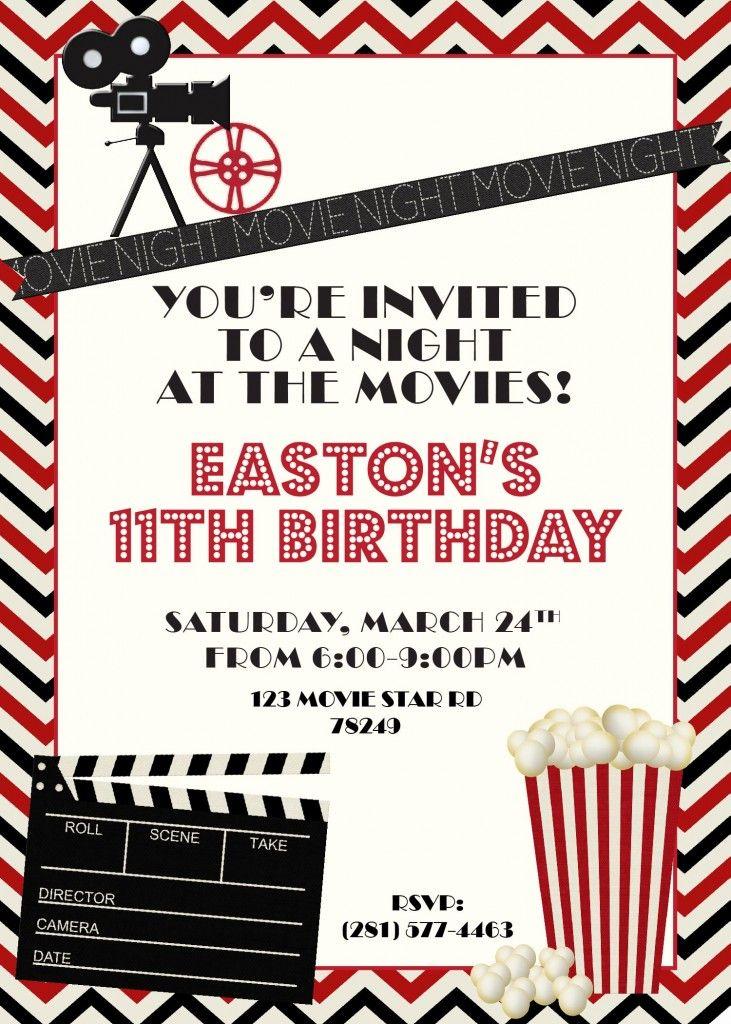 15 invitation movie night movie invitation movie