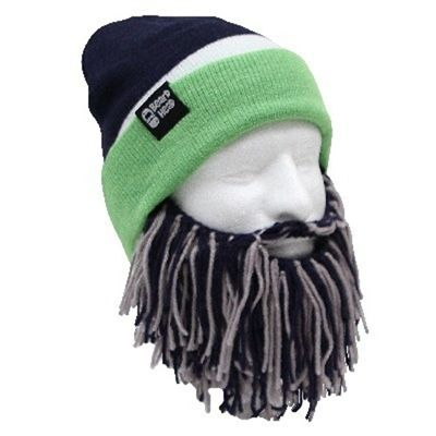 32440806 Seattle Seahawks Colors Beard Face Mask with Hat | Crochet ideas ...